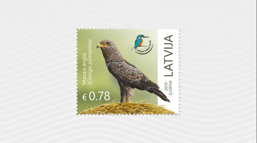 Sadarbībā ar Latvijas Pastu klajā nākusi pastmarka ar mazo ērgli